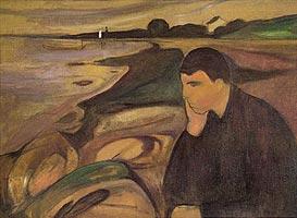 Edvard Munch, Melancholy (1891). From: http://www.edvard-munch.com/gallery/love/melancoly.htm