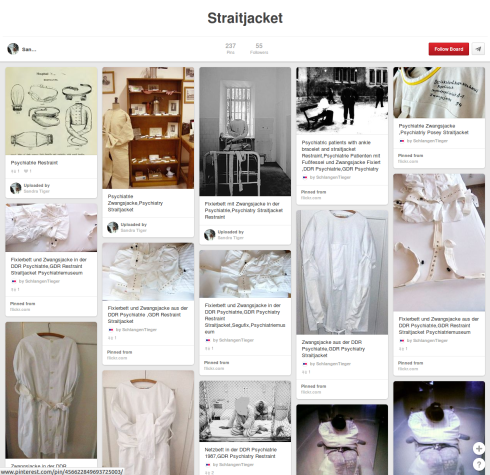 A collection of straitjackets on Pinterest