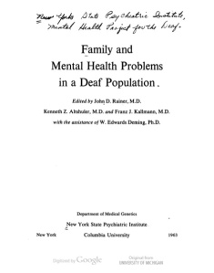 kallmann 63 mental health title