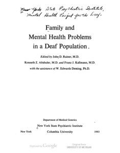 kallmann 63 mental health title