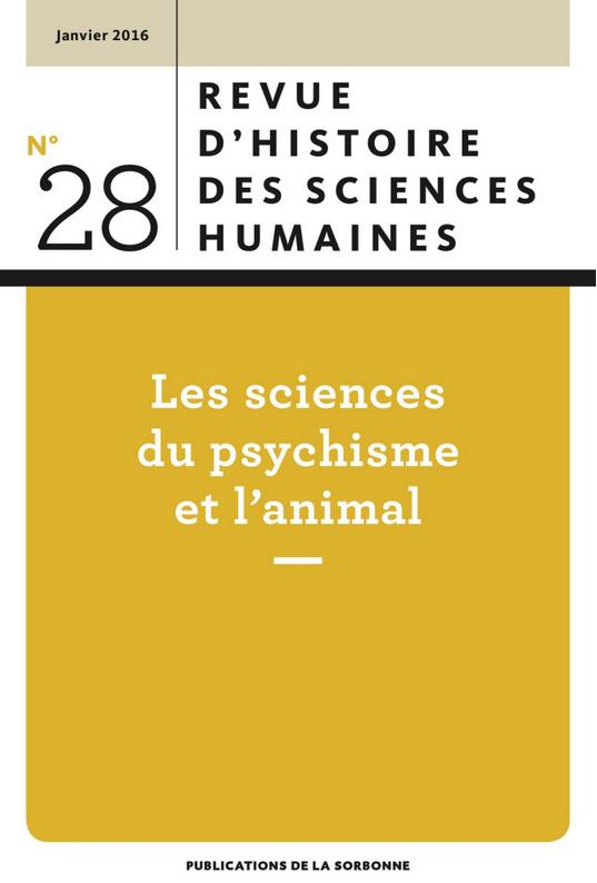 New issue revue d histoire des sciences humaines h madness for Revue sciences humaines
