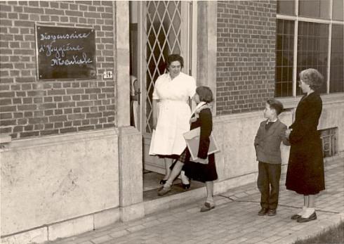 Dispensaire d'Hygiène Mentale à Charleroi dans les années 1950